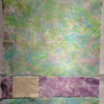 pale green with purple and cream background.