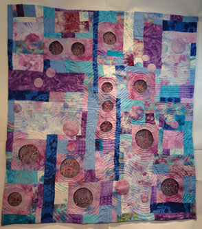 Image of the full quilt with the inserts