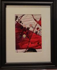 Framed bit of quilt
