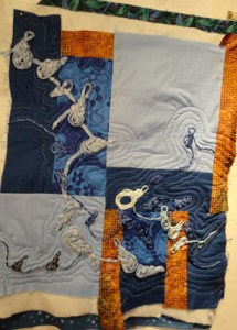 most of the top showing the quilt