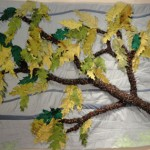 "Oak Leaves 45"" X 30"" $ 350.00"