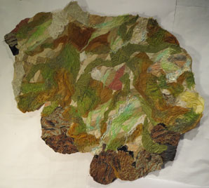"""Foundations XIX -Mossy Stone  33"""" X 29""""  $340.00"""
