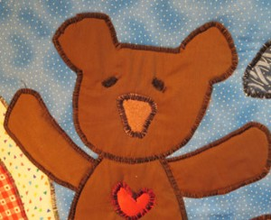 Baby quilt close up -